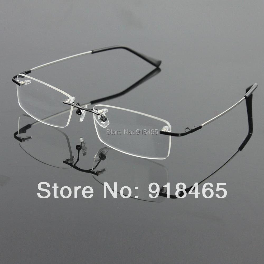 dc74cf945d Sin montura de titanio gafas de memoria hombres flexibles de lentes gafas  spectacle prescription marco óptico en Marcos Eyewear de Ropa y Accesorios