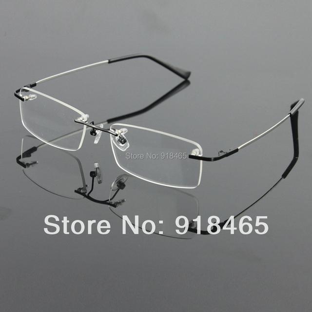 Sin montura de titanio gafas de memoria hombres flexibles de lentes gafas spectacle prescription marco óptico