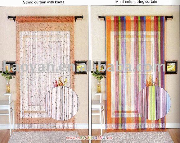 multi-color string curtain