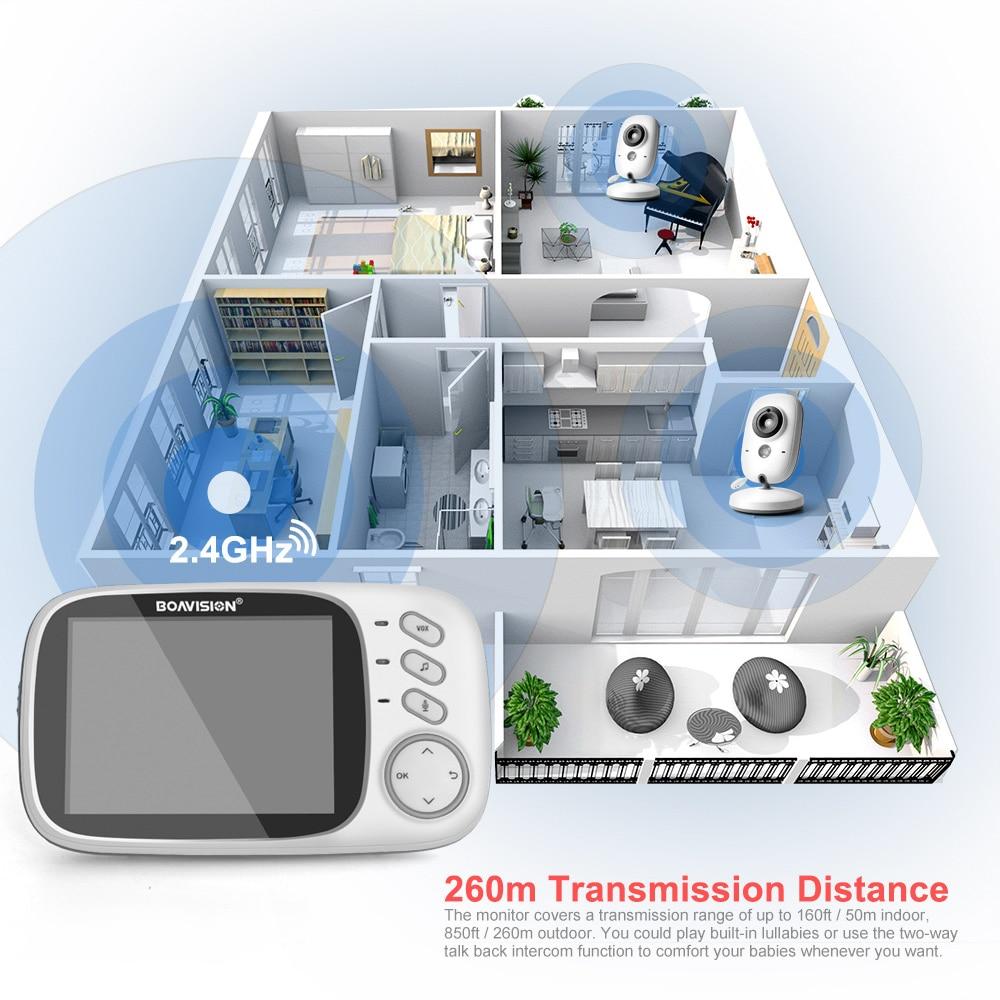 Image 4 - VB603 видео видеоняни и радионяни 2,4 г беспроводной с 3,2 дюйм(ов) ЖК дисплей 2 способ аудио говорить ночное видение наблюдения безопасности камера-in Радионяни from Безопасность и защита