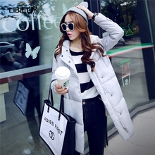 New Winter Coat Women Solid Color Women s Clothing Long Cotton Jacket Hooded Wadded Jackets Coats
