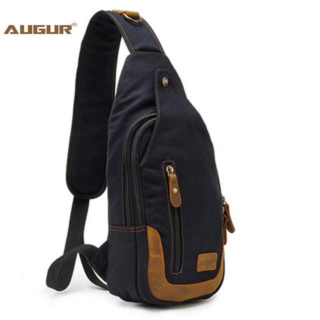 Casual One Strap Backpack Men Rugzakken Canvas Chest Bag Small Crossbody Shoulder Back P ...