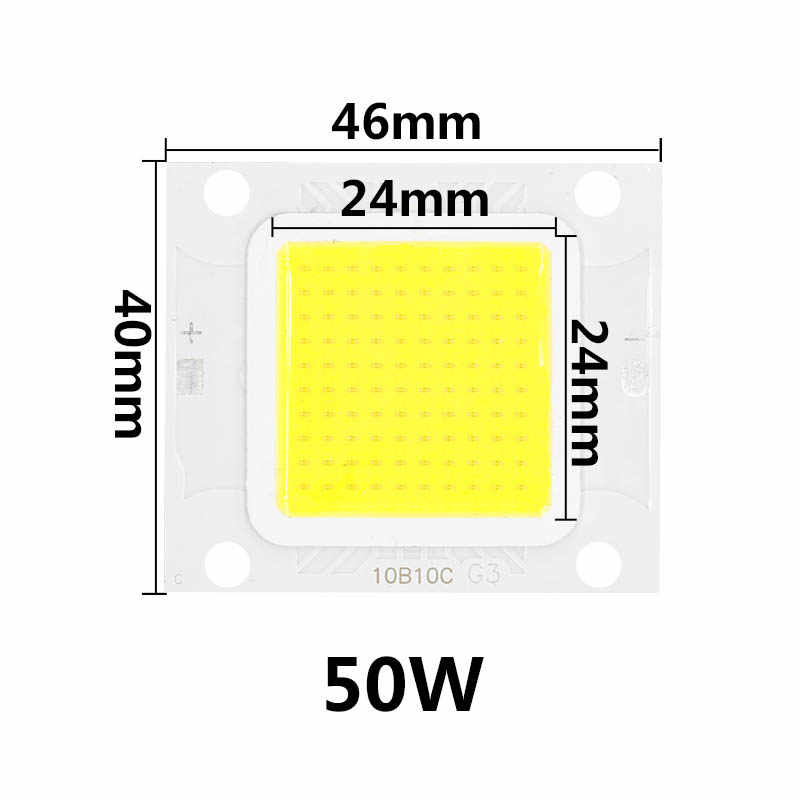 LED COB Chip 10W 20W 30W 50W 70W 100W High Brightness Lamp Input 30-34V For DIY LED Outdoor Floodlight SpotLight Cold White KIT