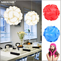 DIY Novelty Pendant Ball lamp Plastic pendant lamp white color pendant lights,size 25cm/30cm/40cm