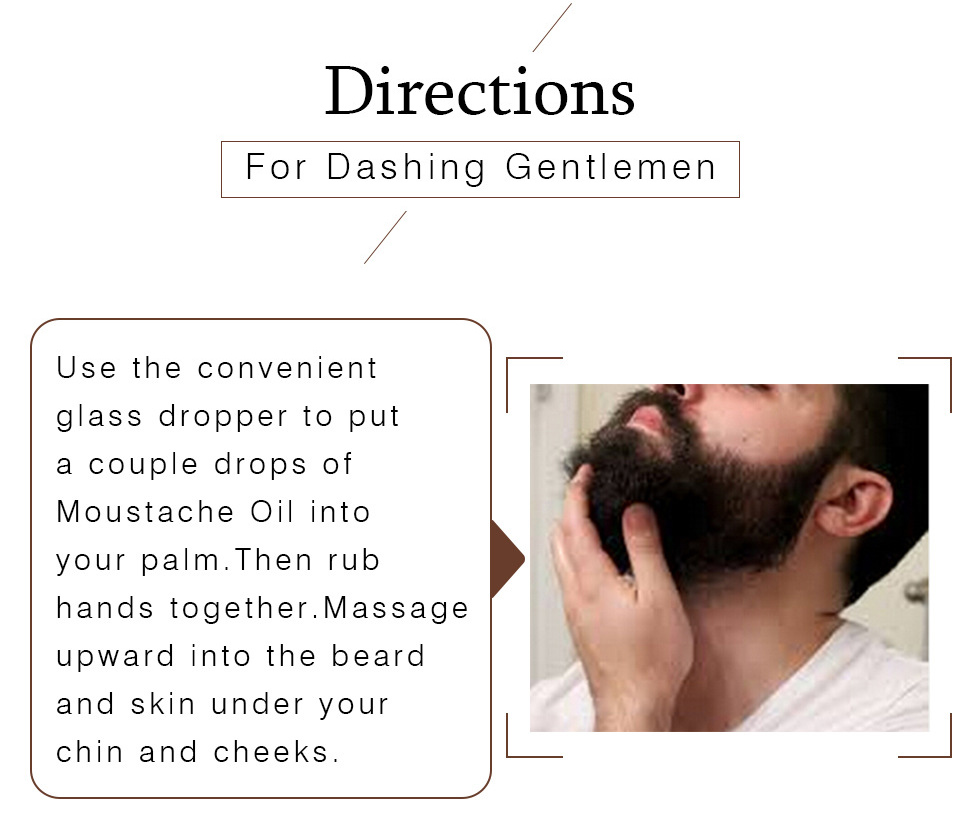 Beard Oil 10ml Gentlemen Moisturizes Facial Hair Moustache Oils Pure Organic Beard Oil Growth Face Hair Thicker Essential Oil 2