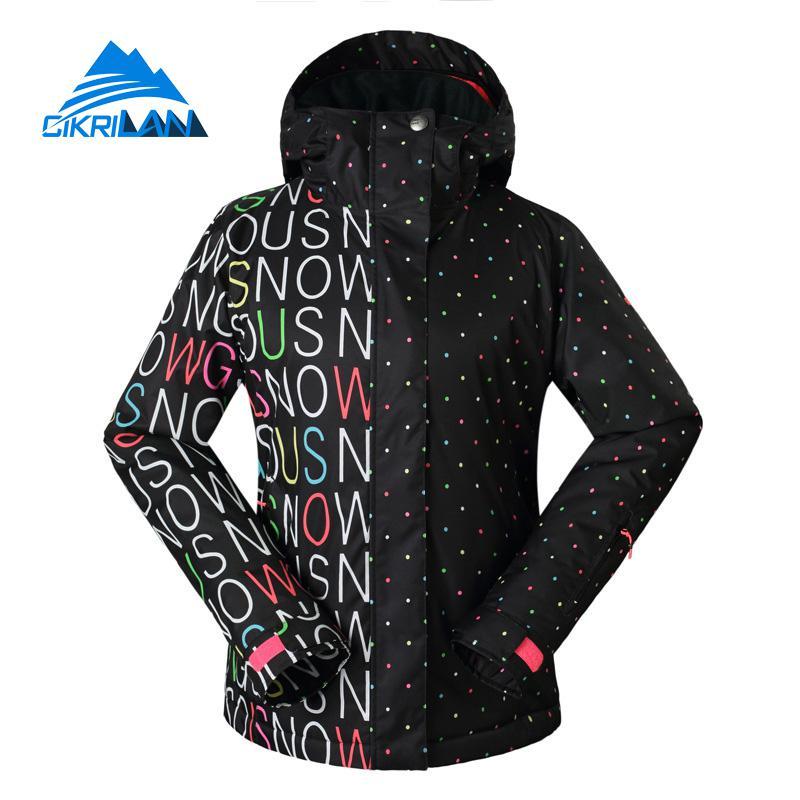 Prix pour Vente chaude Ski Windstopper Imperméable Rembourré Manteau D'hiver Snowboard Ski Veste Femmes En Plein Air Randonnée Escalade Roupas Feminina