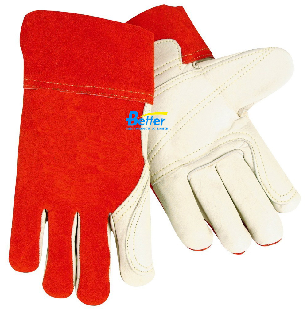 A Grade Red Ram Cow Leather Mig Safety Glove Tig Welder Glove Leather Welding Work Glove welder machine plasma cutter welder mask for welder machine