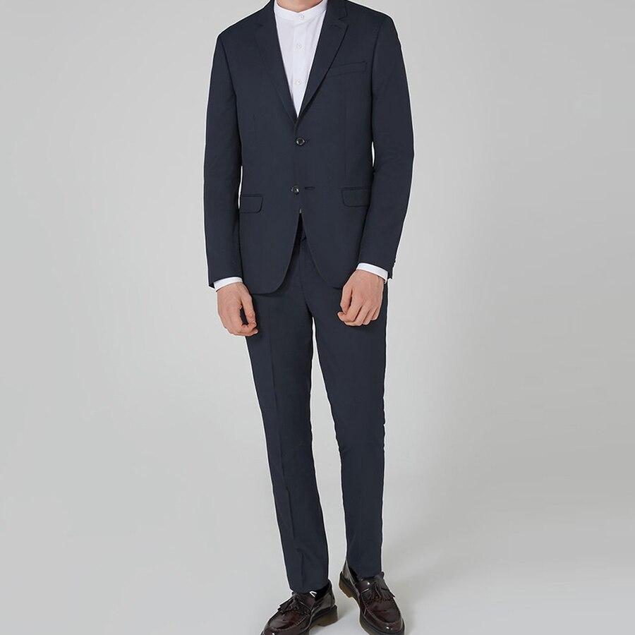 2Pcs Stylish Men Wedding Suits Groom Tuxedos Formal Best Man Suit Business Wear