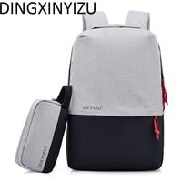 DINGXINYIZU Unisex Design 15 6 Inch Laptop Backpack Canvas Men USB Charging Student School Bag Women