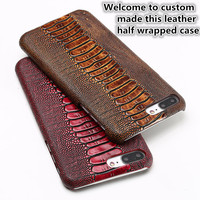 CH15 Genuine Leather Half Wrapped Case for Samsung Galaxy Note 8 Phone Case For Samsung Galaxy Note 8 Hard Leather Case