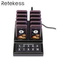 Ресторан пейджер Беспроводной Официант подкачки в очередях вызова сирена системы викторины с 1 передатчик для клавиатуры + 10 пейджер для ка...