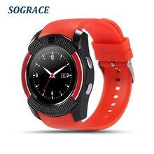 SOGRACE Relógios Inteligentes V9 Em Relógio de Pulso Smartwatch Telefone Disque Chamada Relógio Inteligente Com a Poderosa Bateria Inteligente-Relógio Y113