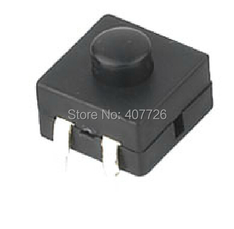 50pcs/lot DC Power button switch 13mmx13mm DIP 4PIN ON-ON-OFF for flashlight electric torch