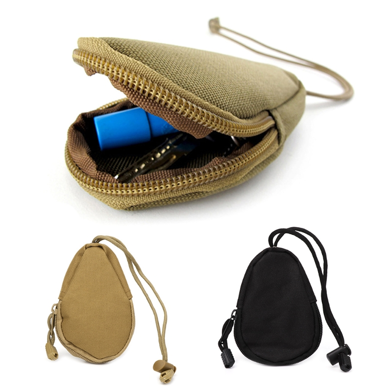 1PC Portable Outdoor Key Bag Tactical Coins Pouch MP3 Keychain Holder Case Bag