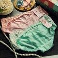 Calcinhas sexy mulheres underwear rendas foral rosa sexy crotchless calcinha sem costura underwear bragas mujer femme culotte das mulheres tanga