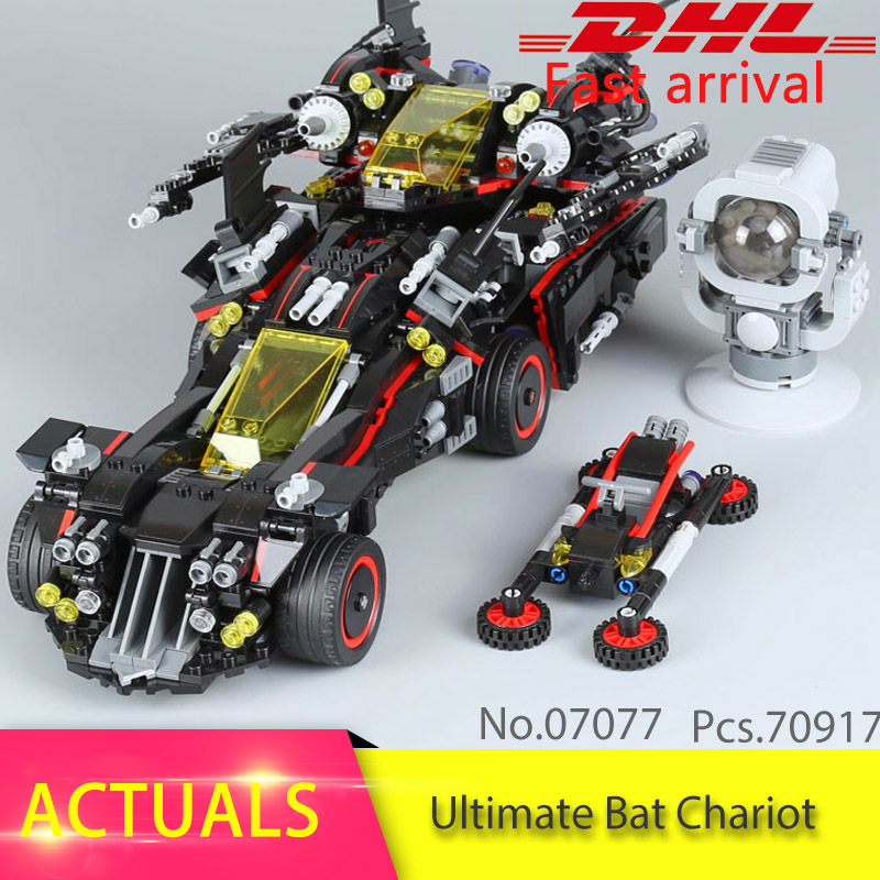 70917 Batman 1496Pcs Marvel Super Heroes Genuine Movie The Ultimate Batmobile Building Blocks Bricks Toys Compatible 07077 moc 1128pcs the batman movie bane s nuclear boom truck super heroes building blocks bricks kids toys gifts not include minifig