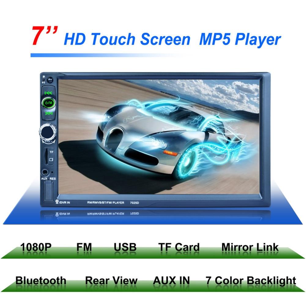 7 pouces 2Din 7025D Voiture MP5 Lecteur Bluetooth 1024*600 Miroir Lien Radio Tuner Voiture Stéréo MP5 Lecteur Directeur roue Télécommande