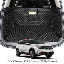 купить For Citroen C5 Aircross Low/High Mach 2018 2019 Car Boot Mat Rear Trunk Liner Cargo Floor Carpet Tray Protector Accessories Mats по цене 7919.11 рублей