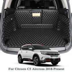 Per Citroen C5 Aircross Bassa/Alta Mach 2018 2019 Car Boot Zerbino Posteriore Tronco Liner Cargo Floor Tappeto Vassoio protezione Accessori Zerbino s