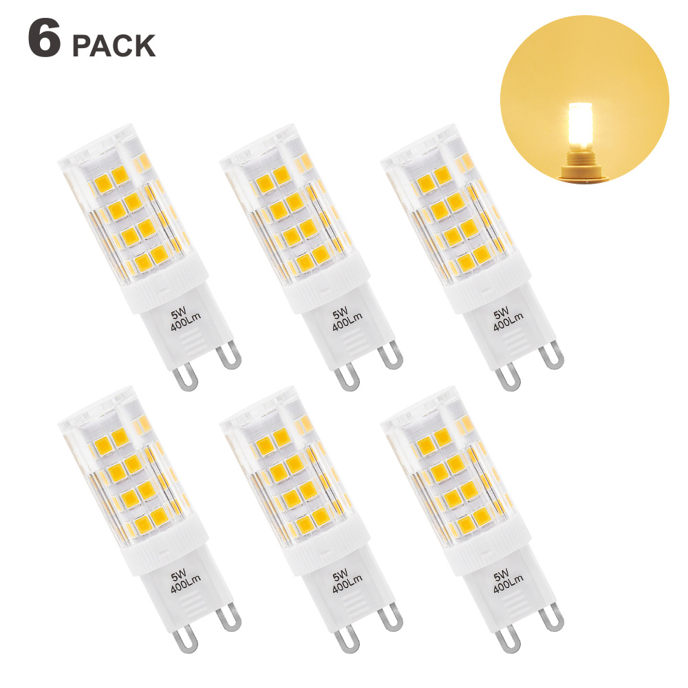 5W G9 GU9 LED Light Bulbs Capsule Bulbs Small Corn Light Bulbs Warm White 3000K AC220-240V Replace 40W G9 Halogen Lamp