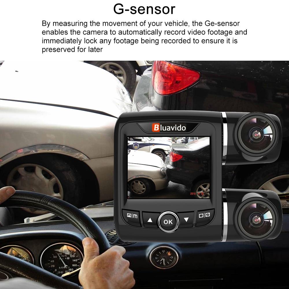 Bluavido Dual Objektiv FHD 1080P Auto DVR Kamera mit 1080P Hinten cam WDR Nachtsicht Novatek 96663 Auto video Recorder Für Uber Taxi - 3