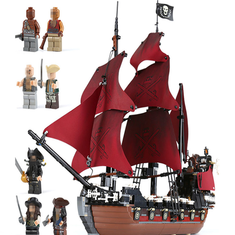 LEPINing DIY 16009 Anne's Blocks Queen Revenge Pirates Of The Caribbean Building Blocks Set Compatible With Children Gift model 1717pcs new 22001 pirates of the caribbean imperial flagship diy model building blocks big toys compatible with lego