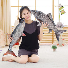 1pc 50cm Creative Simulation Crucian Fish Plush Toy Stuffed Cartoon Animal Soft Fish Pillow Dolls for Baby&Kids Valentine's Gift