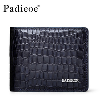 Crocodile Pattern 100 Genuine Leather Wallets New Arrival Business Leisure Purse Designer Wallets Famous Brand Men