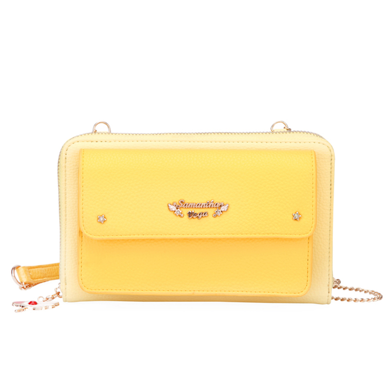Card Captor Cardcaptor Sakura Chain Shoulder Bag Messenger Crossbody Cute Anime Clutch Bag Women Zipper Long Wallet