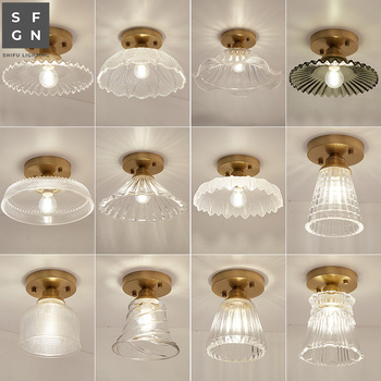 LED Ceiling Light lamps Modern Copper Lamp Aisle lights Fixture Bedroom Kitchen Balcony Surface Mount Flush Panel home lighting