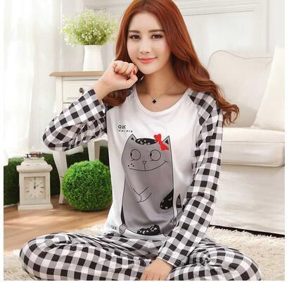 ALI shop ...  ... 33001429166 ... 3 ... Spring Autumn 20 Style Thin Carton Generation Women pajamas Long Sleepwear Suit Home Women Female Sleep Top Wholesale Pajamas ...