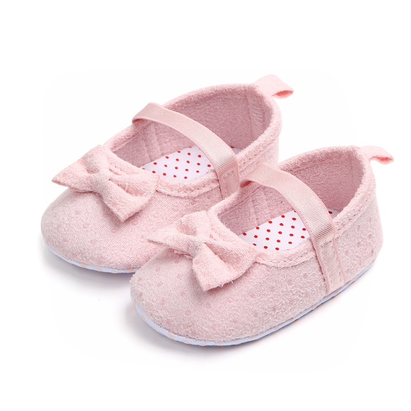 Baby Girl Shoes Cute Bow Princess Baby Shoes Anti-slip Toddler Crib First Walkers 0-18 Months
