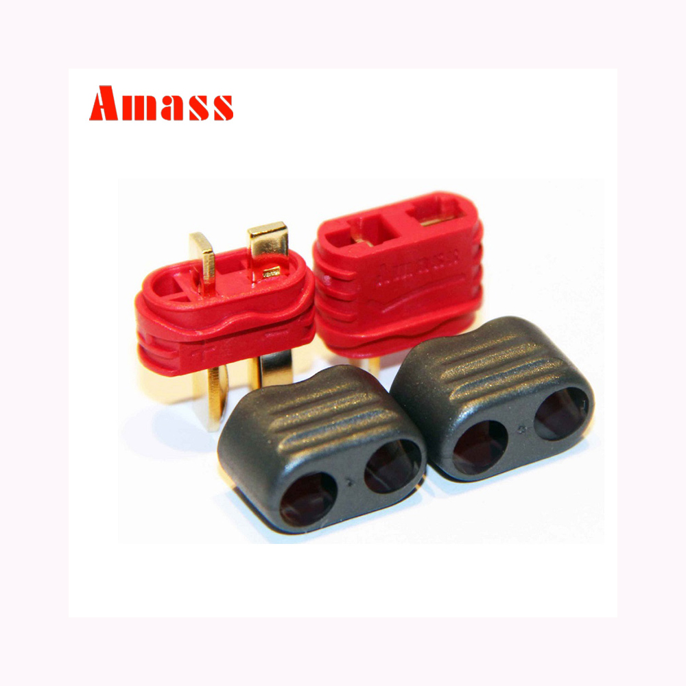 10 Pairs/lots Amass T Plug Deans Connector Male Female With Sheath Housing For RC Lipo Battery