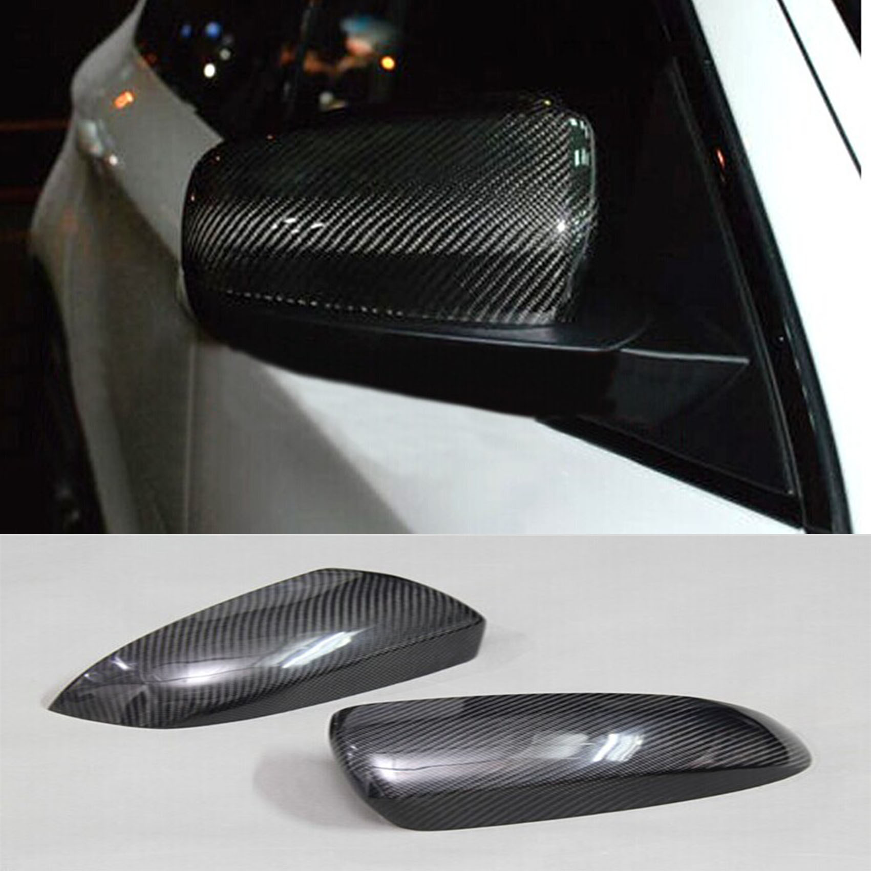 X5 E70 X6 E71 Side Wing Rearview Mirror Cover Caps for BMW 2007-2013 Carbon Fiber carbon fiber side wing mirror cover caps for volkswagen vw golf mk5 2005 2007