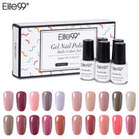 Elite99 5 Pieces/lot Nude Color Gel Polish With Gift Box Platinum Color UV Gel Polish Soak Off Nail Art Manicure Gel Varnishes