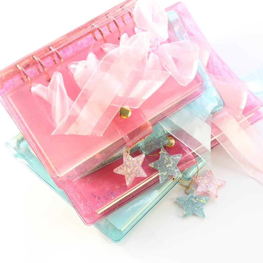 Domikee Original Creative Candy School Binder Spiral Notebooks Stationery,kawaii Student Binder Weekly Planner Agenda Organizer