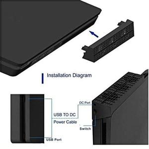 Image 3 - สำหรับPS4 Slim Cooler,พัดลมระบายความร้อนสำหรับPS4 Slim USBภายนอก 5 อุณหภูมิSuper TurboสำหรับPlaystation 4 Slim Console