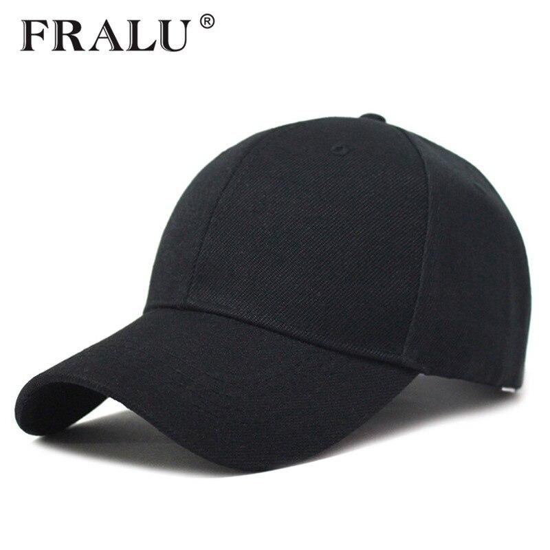 FRALU Summer Baseball Cap Women Mens Fashion Brand Street Hip Hop Adjustable Caps Suede Hats for Men Black White Snapback Caps