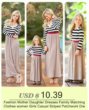 66376ce12c New Family Dress Mother Daughter Spring Fashion Striped Family Look  Matching Clothes Mom And Daughter Dress Family Clothing