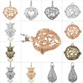 Fashion Jewelry Heart Owl Waterdrop Round Ball Pendant Hollow Music Bola Cage Pendant Locket For DIY Pregnant Mother Necklace
