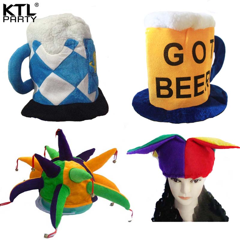 KTLPARTY children adult Halloween party Beer Festival Beerfest hat carnival clown hat cap for men woman