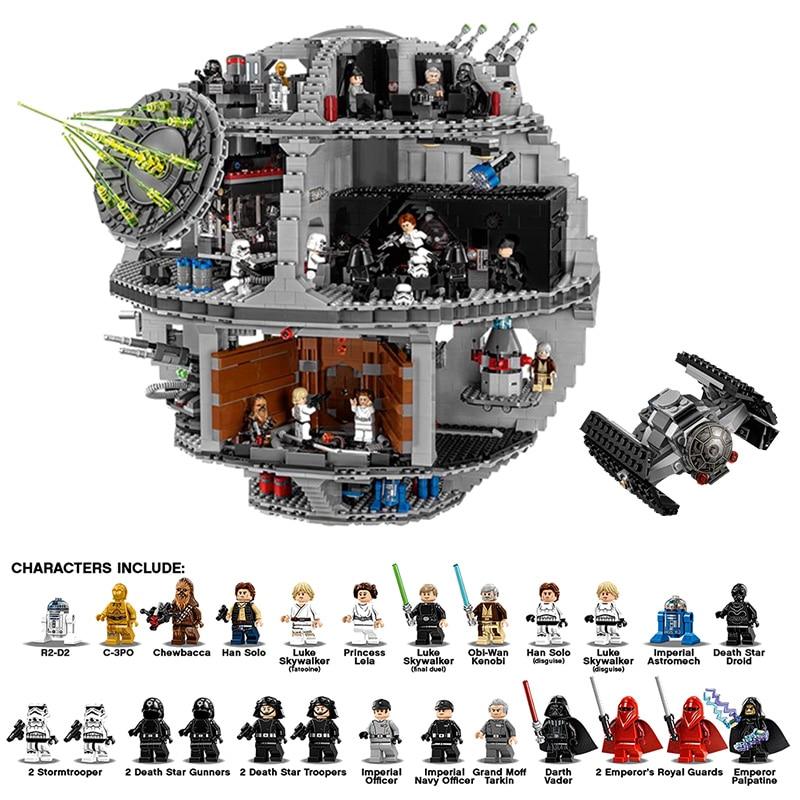 In Stock 05063 4016pcs 05028 3208pcs Star Plan Series Force Waken UCS Death Star Building Block Bricks Toys Kits