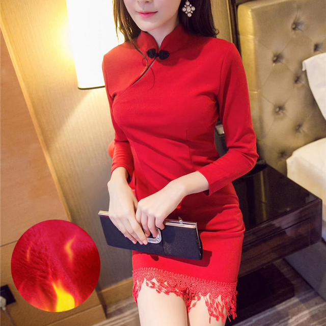 2016 winter hot sale burgundy chinese ladies silk satin cheongsam long qipao novelty evening dress vintage dragon