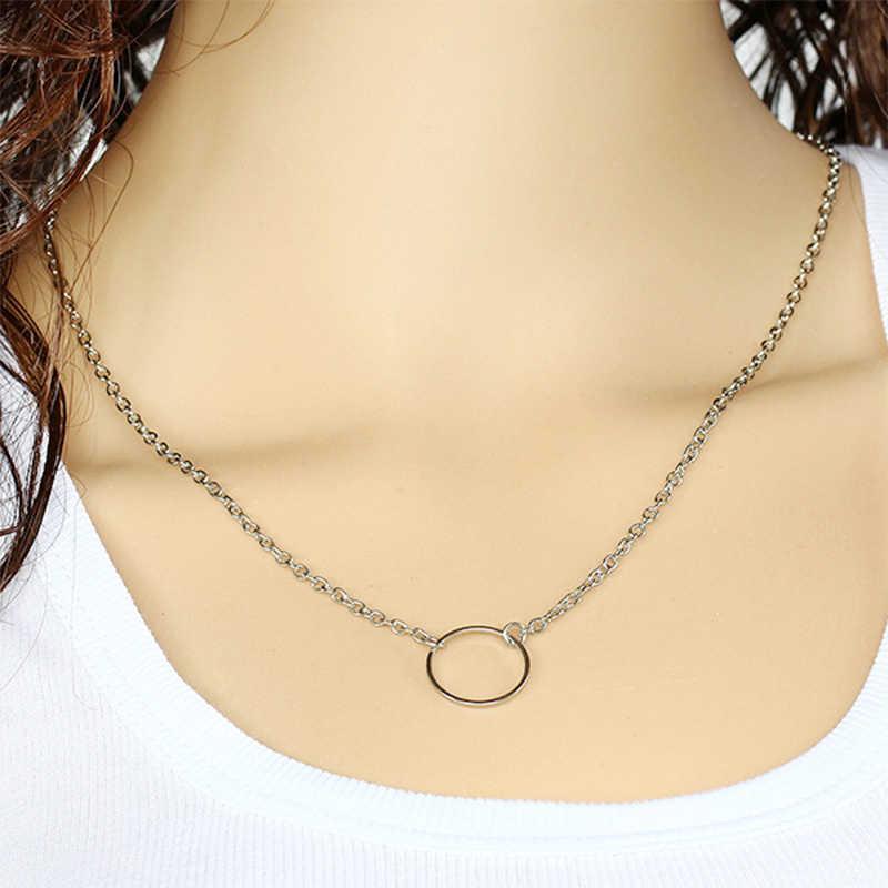 Moda Choker naszyjnik dla kobiet złoty i srebrny łańcuszek mały naszyjnik pokazuje tę listę, czeski naszyjnik Choker Drop shipping VP534