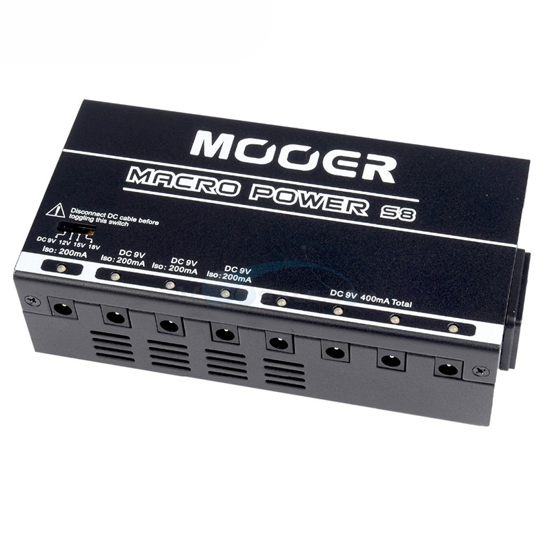mooer macro power s8 power supply 8 ports isolated guitar effect pedal power supply for guitar. Black Bedroom Furniture Sets. Home Design Ideas