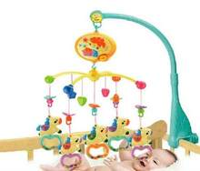 Ship Out Within 24 Hour High Quality Carousel Rattles Baby Toys Rotating Musical Mobile Bed Bell With 40 Music For 0-12 Months(China)