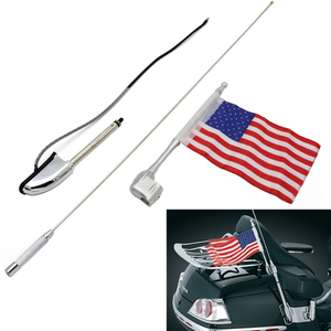 Antenna For Honda GL1800 01-14 Motorcycle Antenna Kit Audio Navi Comfort +Flag GL 1800 Glodwing Rated 5.0 /5 based on 5 cus
