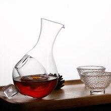 Креативная стеклянная бутылка для вина в японском стиле с отверстием для большого пальца стеклянный кувшин для льда хомяк гнездо охлаждающая комната для вина набор графин