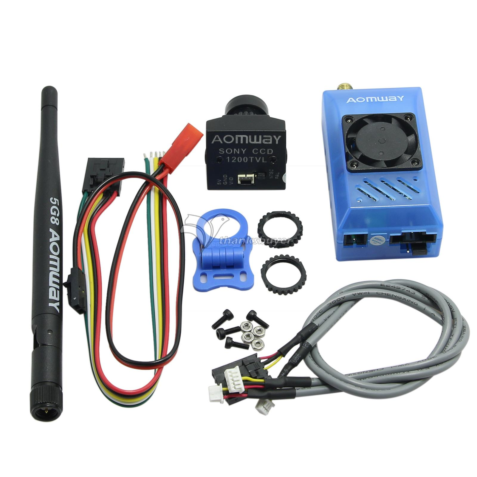 Aomway 5.8G 15CH 1000MW TX Transmitter with 1200TVL 960P HD Mini Cam Combo for Sony CCD FPV Drone Quadcopter aomway 1200tvl 960p ccd hd mini camera 2 8mm lens for fpv