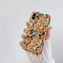 French vintage flower 6 6s phone case for iphone 8 7 plus 6splus floral soft beautiful design xs max xr x women capa